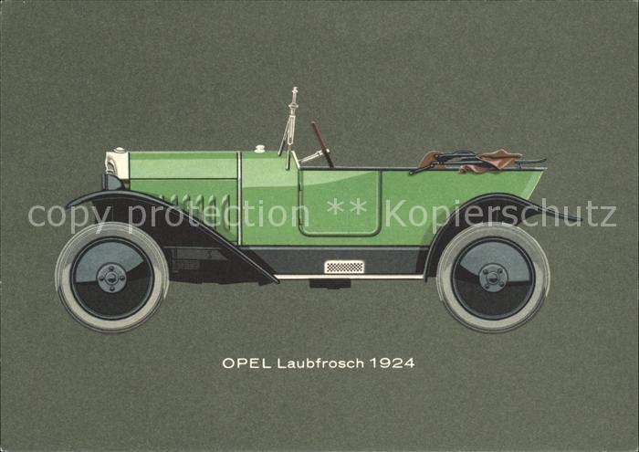 Autos Oldtimer Opel Laubfrosch 4 12 PS 1924 Kat. Autos