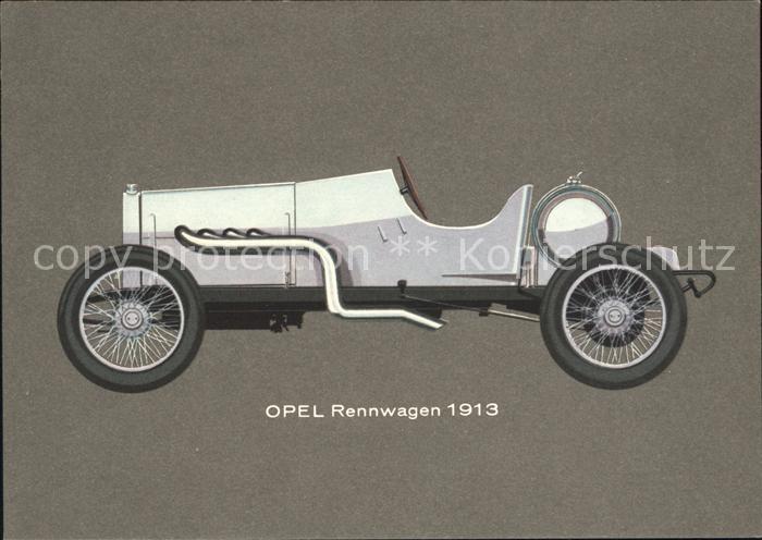 Autos Oldtimer Opel Rennwagen 110 PS 1913 Kat. Autos