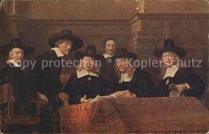 Rembrandt Die Staalmeesters  Senftenberger Krone Brikett Serien Kat. Persoenlichkeiten