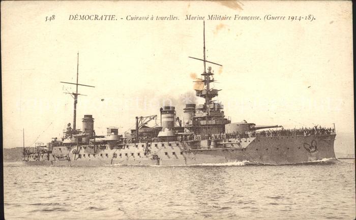 Marine WK1 Democratie Cuirasse a tourelles Militaire Francaise Kat. WK1