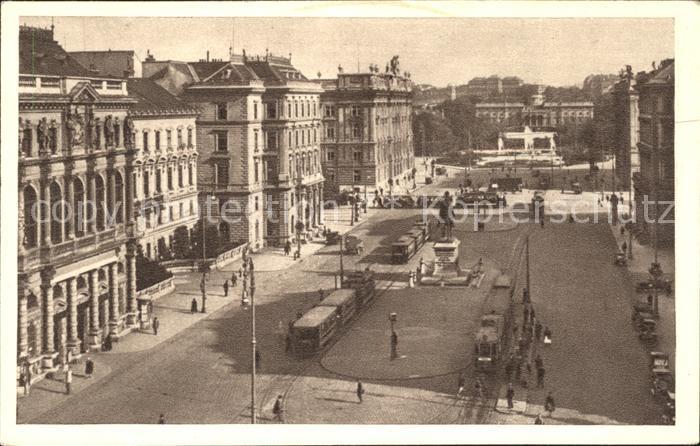 Strassenbahn Schwarzenbergplatz Wien Kat. Strassenbahn