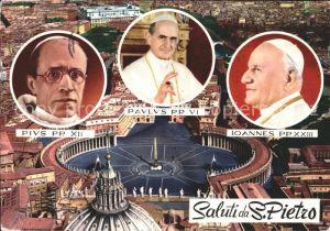 Papst Ioannes PP XXIII Paulus PP VI Pius PP XII S. Pietro Vatikan  Kat. Religion