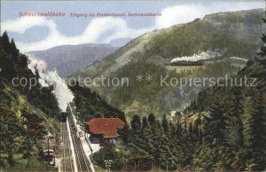 Lokomotive Schwarzwaldbahn Eingang ins Haldentunnel Seelenwaldkurve Kat. Eisenbahn