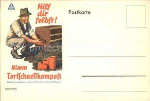 Werbung Reklame Torfschnellkompost  Kat. Werbung