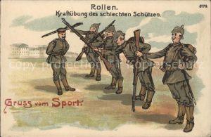 Sport Soldaten Schuetzen Litho Kat. Sport