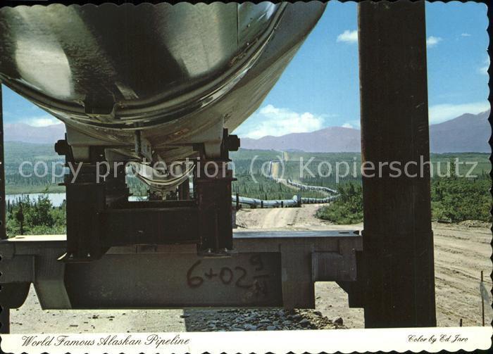 oelfoerderung Oil Fields Alaska Pipeline  Kat. Rohstoffe Commodities