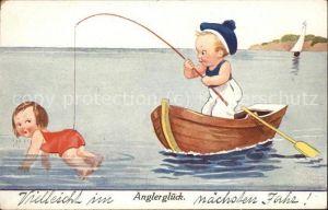 Boote angeln Humor Kinder  Kat. Schiffe