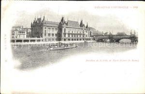 Exposition Universelle Paris 1900 Pavillon de la Ville de Paris Kat. Expositions
