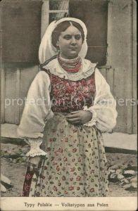 Trachten Polen Volkstypen Frau Feldpost Kat. Trachten