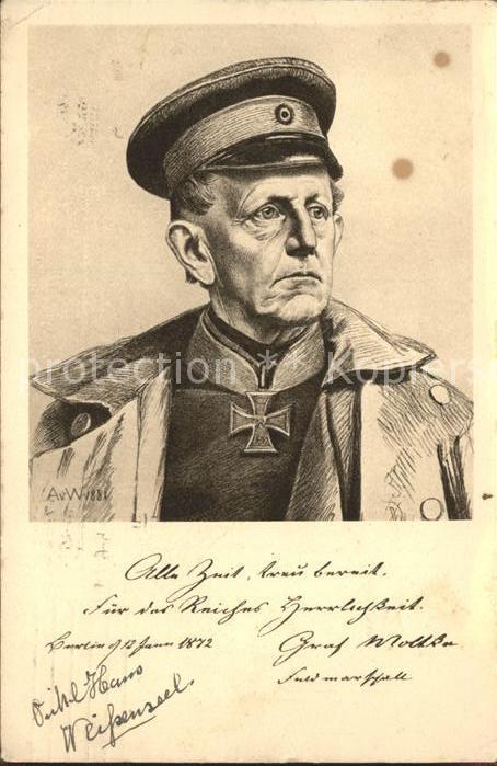 Weber von Anton Rotes Kreuz Eisernes Kreuz General WK1