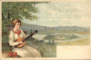 Mandoline Frau Rosen  Kat. Musik