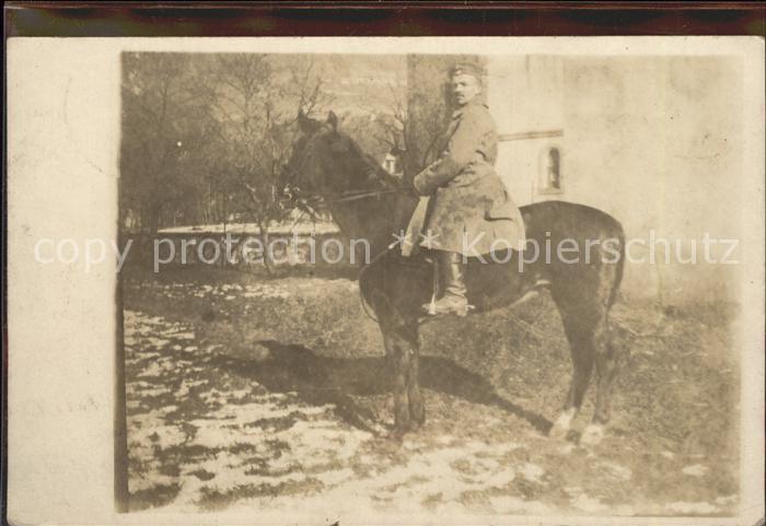 Kavallerie Jaeger zu Pferde WK1 Pferd Soldat K. 2. Chevauleger Regiment 1. Eskadron Kat. WK1