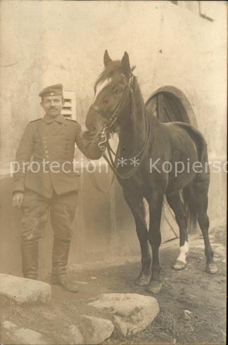 Kavallerie Jaeger zu Pferde WK1 Pferd Soldat  Kat. WK1