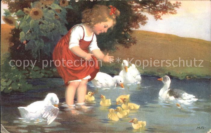Verlag Meissner und Buch 2751 Kind Enten Entenkueken / Verlage /