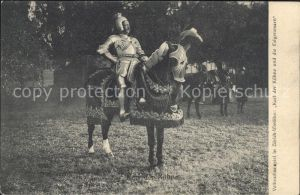 Rittertum Mittelalter Karl der Kuehne Volksschauspiel Zuerich  Kat. Militaria