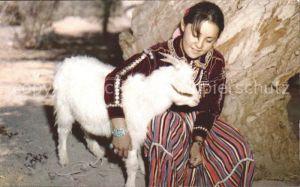 Ziege Indianer Navajo Maiden Tracht Goat  Kat. Tiere
