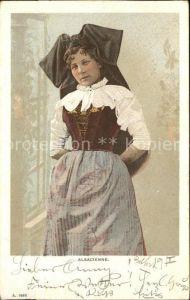 Trachten Alsace Alsacienne Elsaesserin Kat. Trachten