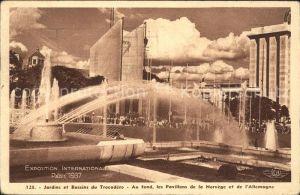 Exposition Internationale Paris 1937 Jardins et Bassins du Trocadero  Kat. Expositions