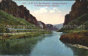 Eisenbahn S.P. Co s San Francisco Overland Limited Palisade Canyon Nevada Kat. Eisenbahn