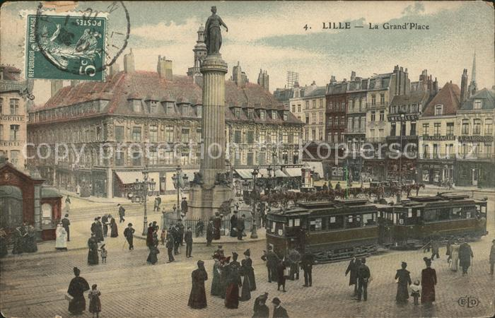 Strassenbahn Lille La Grand Place  Kat. Strassenbahn