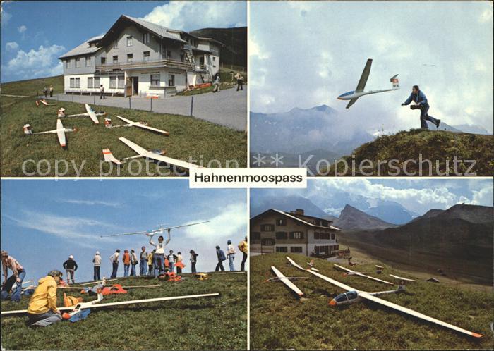 Modellbau Modell Segelfluggelaende Hahnenmoospass Adelboden  Kat. Spielzeug