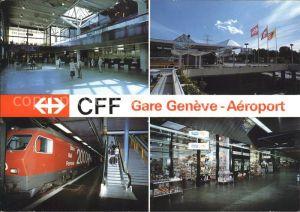 Eisenbahn Bahnhof CFF Gare Geneve Aeroport  Kat. Eisenbahn