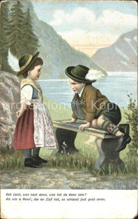 Poesie Gedicht Geh Loisl was hast Maedchen Junge See Berge Kat. Poesie