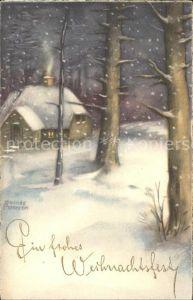 Petersen Hannes Weihnachten Winterlandschaft Kat. Kuenstlerkarte