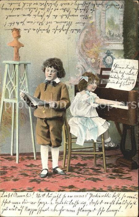 Klavier Kinder Litho Kat. Musik