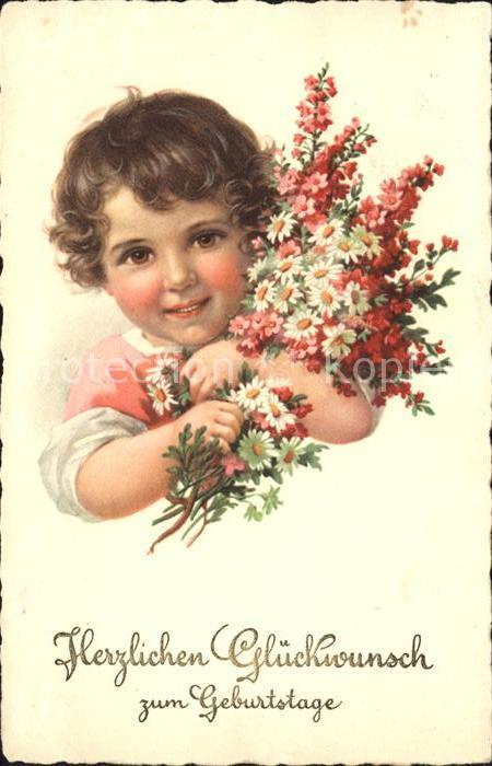 Kinder Child Enfants Blumen Geburtstag Kat Kinder Nr St79183
