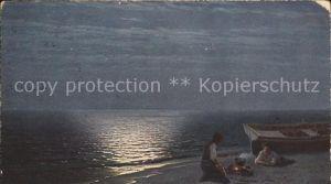 Kuenstlerkarte G. Kalmykoff Fischers Abendbrot  Kat. Kuenstlerkarte