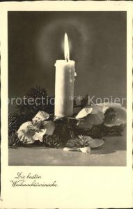 Weihnachten Kerze Christrosen Kat. Greetings