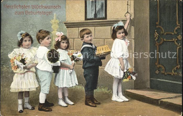 Kinder Child Enfants Geburtstag Kuchen Blumen  Kat. Kinder