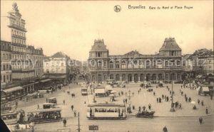 Strassenbahn Bruxelles Gare du Nord Place Rogier  Kat. Strassenbahn
