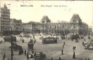 Strassenbahn Bruxelles Place Rogier Gare du Nord  Kat. Strassenbahn