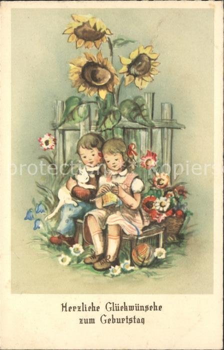 Kinder Child Enfants Stricken Haekeln Katze Sonnenblumen Geburtstag ...