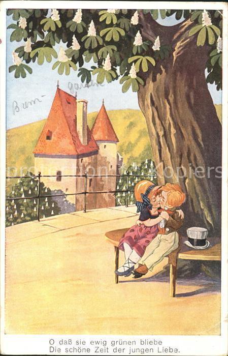 Verlag WS SB Nr. 9332 2 Kinder Kuss Spruch Zylinder  Kat. Verlage