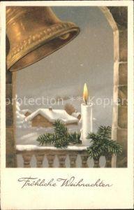 Kirchenglocken Kerze Weihnachten  Kat. Gebaeude