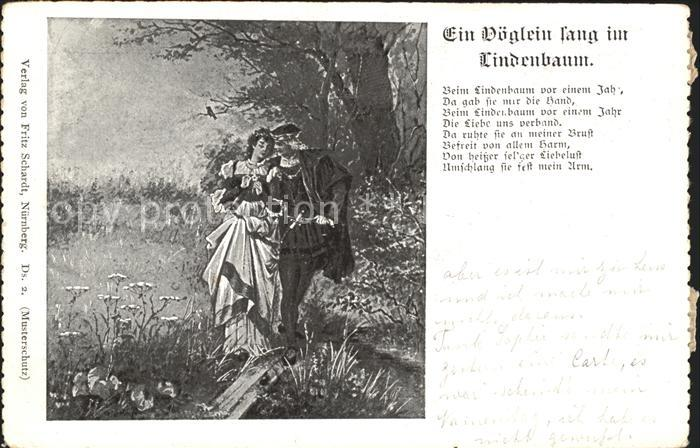 Liederkarte Ein Voeglein sang im Lindenbaum Kat. Musik