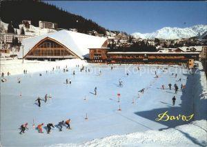 Schlittschuhlaufen Eislaufen Davos Natureisbahn Eissporthalle Kat. Sport