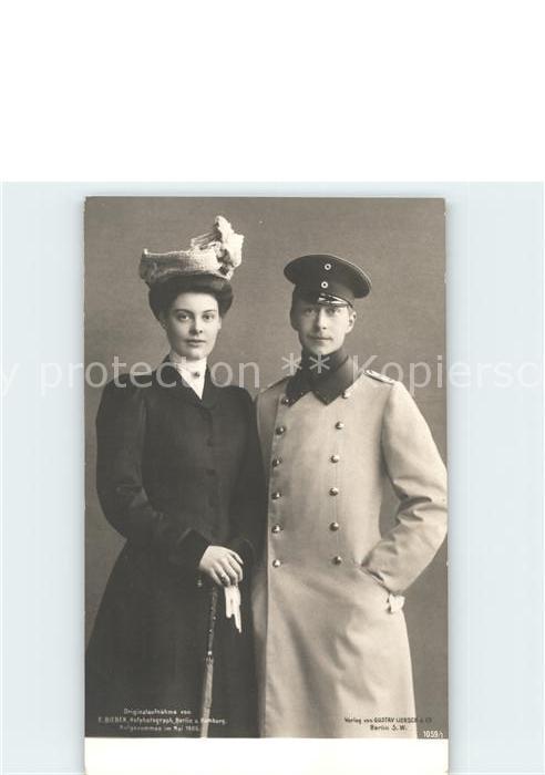 Adel Preussen Herzogin Cecilie Wilhelm von Preussen  Kat. Koenigshaeuser