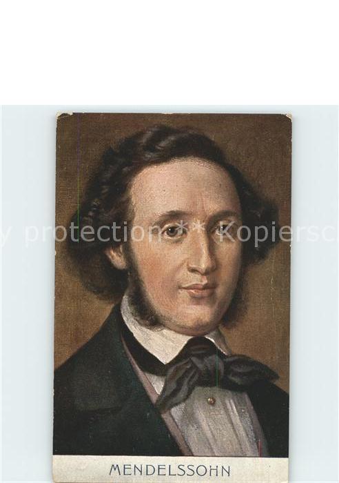 Komponist Felix Mendelssohn Bartholdy Kat. Musik