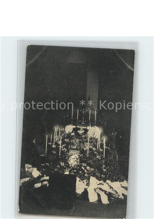 Adel Bayern Prinz Regent Luitpold v. Bayern Aufbahrung 1912 Kat. Koenigshaeuser