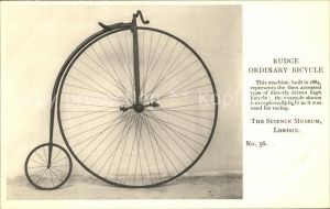 Hochrad Rudge Ordinary Bicycle Science Museum London  Kat. Zweiraeder