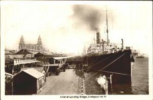 Dampfer Oceanliner Landing Stage Liverpool Kat. Schiffe