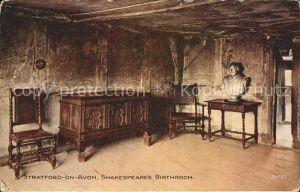 Shakespeare William Birthroom Stratford on Avon  Kat. Persoenlichkeiten