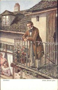 Schubert Franz Kuenstlerkarte Felix Riedel Wiener Kunst Nr. 2076 Kat. Persoenlichkeiten