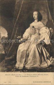 Kuenstlerkarte Barth van der Helst Princesse Marie Henriette Stuart  Kat. Kuenstlerkarte