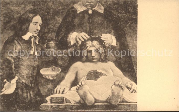 Rembrandt Die anatomische Lektion Nr. 2018 Anatomie Kat ...