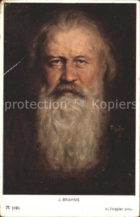 Kuenstlerkarte H. Torggler J. Brahms Verlag F. A. Ackermann Nr. 1993 Kat. Kuenstlerkarte